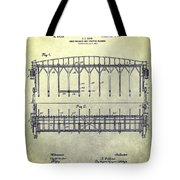 Thoroughbred Race Starting Gate Patent Tote Bag