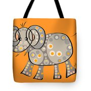 Thoughts And Colors Series Elephant Tote Bag