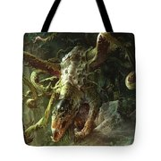 Thrashing Mossdog Tote Bag by Ryan Barger