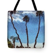Three Abstract Palm Trees  Tote Bag