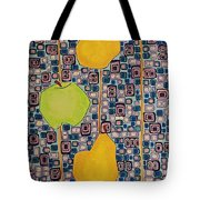 Three Apples Beat Two Pear Tote Bag