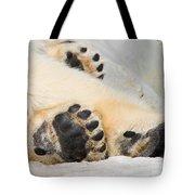Three Bear Paws Tote Bag