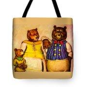Three Bears Family Portrait Tote Bag by Bob Orsillo