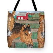 Three Beautiful Horses Tote Bag