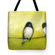 Three Birds On A Wire No 2 Tote Bag