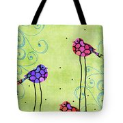 Three Birds - Spring Art By Sharon Cummings Tote Bag