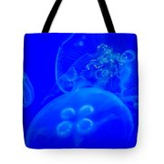 Three Blue Jellyfish Tote Bag