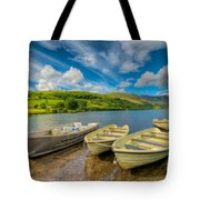 Three Boats Tote Bag by Adrian Evans