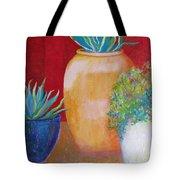 Three Bright Pots Tote Bag