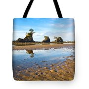 Three Brothers Rock Formation Near The Oregon Coast Tote Bag