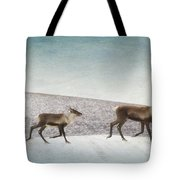 Three Caribous Tote Bag by Priska Wettstein