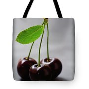Three Cherries On A Stem Tote Bag