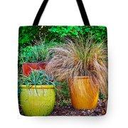 Three Colorful Pots Tote Bag