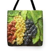 Three Colors Of Grapes Tote Bag