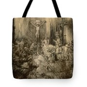 Three Crucifixes Tote Bag by Rembrandt Harmenszoon van Rijn