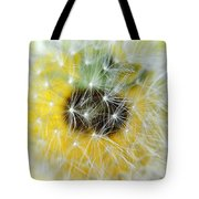 Three Dandelions In A Line Tote Bag