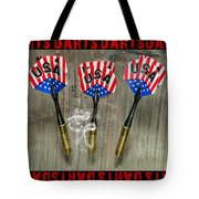 Three Darts Tote Bag