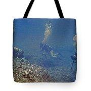 Three Divers In Hawaii Tote Bag