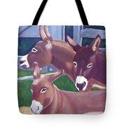Three Donkeys Tote Bag