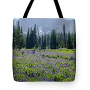 105417-three Fingered Jack And Wildflowers Tote Bag