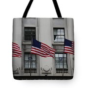 Three Flags Together On 5th Avenue Tote Bag