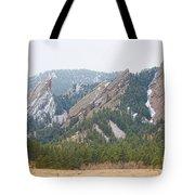 Three Flatirons Boulder Colorado Tote Bag