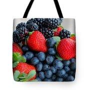 Three Fruit 2 - Strawberries - Blueberries - Blackberries Tote Bag