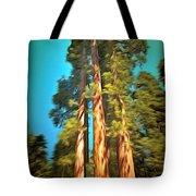 Three Giant Sequoias Digital Tote Bag