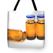 Three Glass Bottles With Medicine Tote Bag