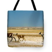 Three Goats In A Desert Tote Bag