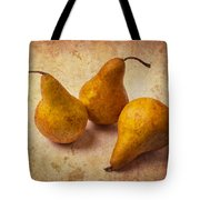 Three Golden Pears Tote Bag