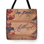 Three Great Dallas Cowboys Quarterbacks Tote Bag