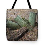 Three Green Logs Tote Bag