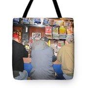 Three Guys In A Bar Tote Bag