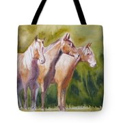Three Horses Tote Bag