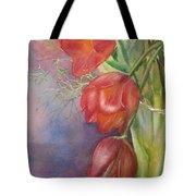 Three In A Vase Tote Bag