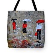 Three In The Rain Tote Bag