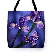 Three Iris Xiphium Tote Bag