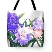 Three Irises Tote Bag
