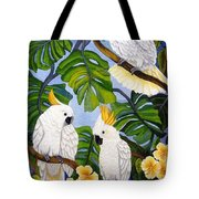 Three Is A Crowd Hand Embroidery Tote Bag
