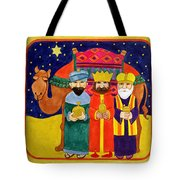 Three Kings And Camel Tote Bag