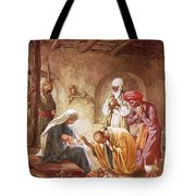 Three Kings Worship Christ Tote Bag by William Brassey Hole