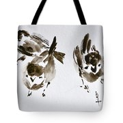 Three Little Birds Perch By My Doorstep Tote Bag