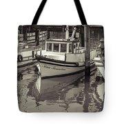 Three Little Boats Sepia Tote Bag