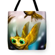 Three Little Fishies And A Mama Fishie Too Tote Bag