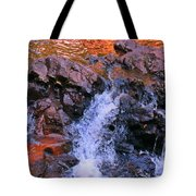 Three Little Forks In The Waterfall Tote Bag