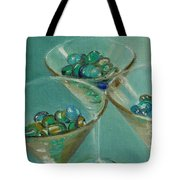 Three Martini Glasses With Jewels Tote Bag