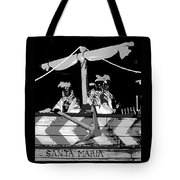 Three Maskers In  Black And White Tote Bag