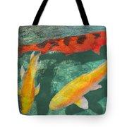 Three Mixed Koi Tote Bag