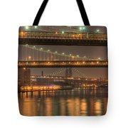 Three New York Bridges Tote Bag